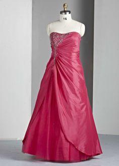 Taffeta Sweetheart Bodice Long Prom Dress