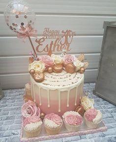 35th Birthday Cakes, 50th Birthday Cake For Women, Birthday Cake For Women Elegant, Elegant Birthday Cakes, Beautiful Birthday Cakes, Woman Birthday Cakes, 26th Birthday, Birthday Cake Decorating, Girls Cake Ideas