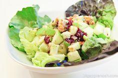Spinach Waldorf Salad with Cinnamon-Apple Dressing