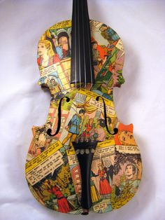 Decoupaged Violin.