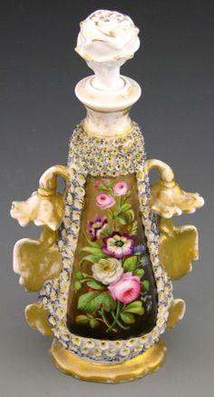 Old Paris Porcelain Perfume Bottle, mid 19th