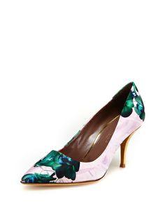 floral low heel