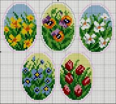 Lovely heart things: needlework, decor and much more: Easter embroidery Mini Cross Stitch, Beaded Cross Stitch, Cross Stitch Cards, Cross Stitch Needles, Cross Stitch Flowers, Cross Stitching, Cross Stitch Embroidery, Cross Stitch Designs, Cross Stitch Patterns