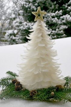 White Feather Tree