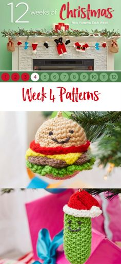 Week 4! Celebrate the 12 weeks of Christmas with Red Heart and new patterns each week.
