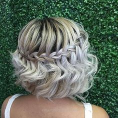 """28 Prom Hairstyles for Short Hair to Astonish Everyone, Short Prom Hairstyles The dress is purchased, now you need to decide on your prom hairstyles. Do not worry about """"What are the fashion trends of the …, Short Hairstyles Source by Formal Hairstyles For Short Hair, Bob Wedding Hairstyles, Long Bob Haircuts, Braids For Short Hair, Homecoming Hairstyles, Trendy Hairstyles, Short Hair Cuts, Braided Hairstyles, Short Hair Styles Formal"""