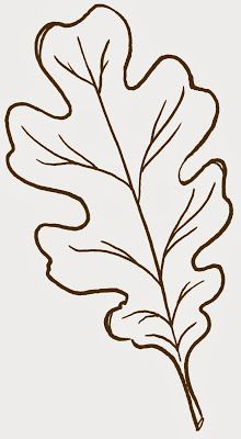 Embroidery On Paper Free clip art ~ oak leaf Applique Patterns, Quilt Patterns, Leaf Patterns, Leaf Template Printable, Owl Templates, Heart Template, Butterfly Template, Applique Templates, Flower Template