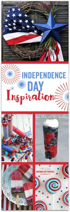 Independence Day Inspiration! Creative recipes and crafts to make your holiday the best ever! TablerPartyOfTwo.com