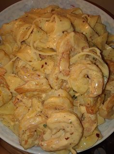Creamy Shrimp Fettuccine Pasta With Homemade - Cooking happy C. - Creamy Shrimp Fettuccine Pasta With Homemade – Cooking happy Creamy Shrimp Fett - Seafood Recipes, Cooking Recipes, Healthy Recipes, Skinny Recipes, Pasta Recipes, Delicious Recipes, Meat Recipes, Healthy Meals, Cake Recipes