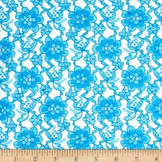 Raschelle Lace Turquoise from @fabricdotcom  Delicate and classic, this sheer lace has no significant stretch and a pearlized sheen. This lace fabric appropriate for lingerie, overlays on skirts or dresses, feminine apparel accents, wraps or shrugs, and even home decor accents.