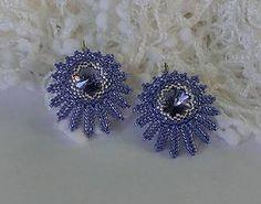 Náušnice - Náušnice modré lúče - 6511693_