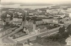 Old postcard from Helsinki. Map Pictures, Helsinki, Historian, Good Old, Vintage Postcards, Old Photos, Finland, Paris Skyline, City Photo