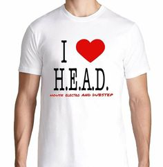 FTD Apparel Mens I Love HEAD House Electro Dubstep EDM Rave Concert T Shirt - Sale! Up to 75% OFF! Shop at Stylizio for women's and men's designer handbags, luxury sunglasses, watches, jewelry, purses, wallets, clothes, underwear & more!