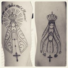 Genelle, this is beautiful! Dream Tattoos, Body Art Tattoos, New Tattoos, Tatoos, Unique Tattoos, Beautiful Tattoos, Tattoo Virgen, Mary Tattoo, Christian Tattoos