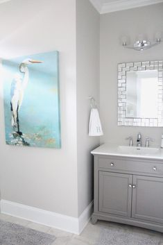 This wall color with gray vanity. Wall color is Repose Gray Sherwin Williams Bad Inspiration, Bathroom Inspiration, Bathroom Ideas, Bathroom Remodeling, Remodeling Ideas, Bathroom Pictures, Design Bathroom, Kitchen Design, Bathroom Wall Colors
