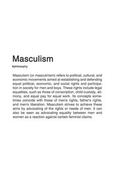 MASCULISM. #philosophy #typography #typographyposter