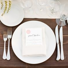 __35\. Make Stationery Count__  Put a guest's name on their menu instead of ponying up for spendy place or escort cards. The result will look just as personalized, but won't be as expensive as printing an additional piece of stationery.