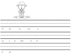 In this activity students are to read the story that goes with the visual.  They are then to rewrite the story.  The sentences have been planned to use targeted sight words.
