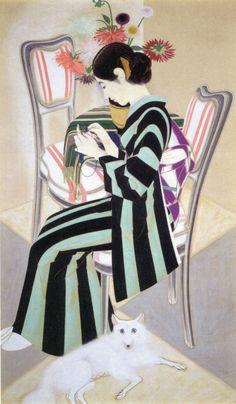 """""""花の傍"""" by 速水御舟, ca.1932"""