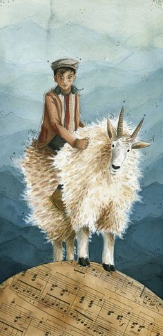 Original illustration // Gentle was the Goat by TheArtofMichelle, $200.00