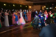 The wedding party was full of fun and surprises. I received a very Mexican serenade from my husband and the guys