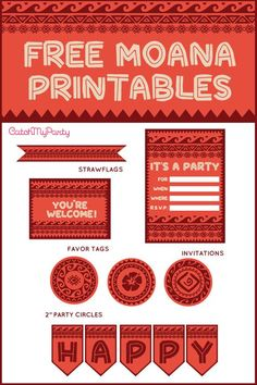 Free Moana Printables For Birthday Parties