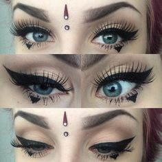 eye brows on point gorgeous winged liner.