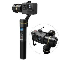 FeiyuTech Stabilized Handheld Gimbal for Gopro Hero Yi Cam AEE Sports Cams, Waterproof, Anti-Loss Screws, Selfie Ready Gopro Drone, Gopro Camera, Time Lapse Photography, Gopro Hero 5, Photo Accessories, Iphone, Stability, Outdoor Power Equipment, Cool Designs