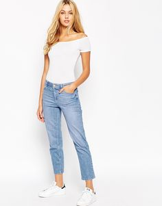 Image 4 of ASOS The Off Shoulder Body With Short Sleeves