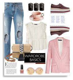 """Wardrobe Basics: Spring Jacket"" by hamaly ❤ liked on Polyvore featuring French Connection, Karen Walker, Dolce&Gabbana, Violeta by Mango, Stella & Dot, Libertine, Typhoon, ootd, jackets and wardrobebasics"