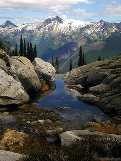 Peaceful country water nature mountains rocks country