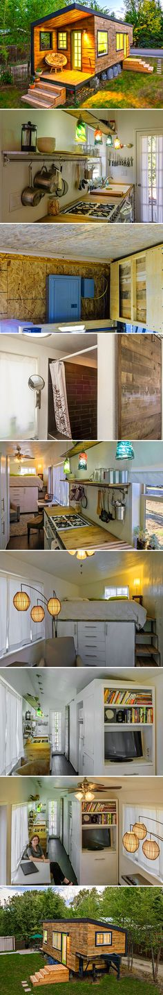 Idaho-based architect Macy Miller longed for a place of her own, but didn't want the burdensome cost of mortgage payments and decided to construct her own compact home. After having a dream back in 2011, Miller mustered up the initiative to design her small yet efficient home known as Tiny House. Interested in the ever-expanding DIY movement as both a way to save on costs and gain some experience with construction, Miller worked on the 196-square-foot home for two years.