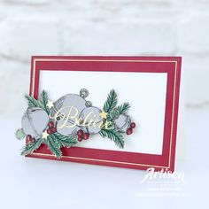 Stampin Up Christmas, Christmas Bells, Christmas And New Year, All Things Christmas, Winter Christmas, Christmas Cards, Love Stamps, Christmas Catalogs, Card Making Inspiration