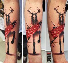 Trash Polka Tattoo Style