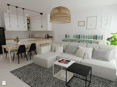 Salon z aneksem kuchennym - zdjęcie od mint&brisk - Salon - Styl Skandynawski - mint&brisk
