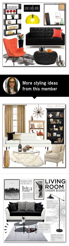 """""""#225"""" by adnaaaa on Polyvore featuring interior, interiors, interior design, home, home decor, interior decorating, Dot & Bo, Rove Concepts, Cyan Design and Universal Lighting and Decor"""