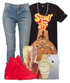 """Super Fly"" by polyvoreitems5 ❤ liked on Polyvore featuring Yves Saint Laurent, MCM, Fremada, Armani Exchange and Converse"