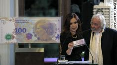The face of Argentina's most famous first lady is part of a new design for the country's new 100-peso bills. The new design marks the first time a woman will appear on an Argentinian bill in 200 years, she said.    The announcement came on the eve of a series of events Thursday commemorating the 60th anniversary of the death of Peron, who was Argentina's first lady from 1946 until 1952.
