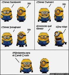 Spanish Humor, Really Funny, The Funny, Minions Cartoon, Minion Jokes, My Minion, Minions Quotes, Minion Poemas, Marketing Branding