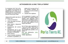 Actividades de la ONG Por la Tierra (Xlatierra) @porlatierra  Revista 400 septiembre 2014