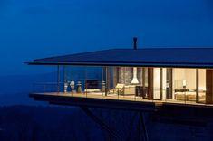 Mountain view home by Kidosaki Architects Studio. Home has views of the Yatsugatake Mountains near Nagano.