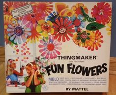 Give your youngsters a look into your childhood or relive it yourself with Mattel's Thingmaker Fun Flowers Set. The set includes a working thingmaker machine/heater and tools, and fun flower molds. It does not, unfortunately, include the Mattel Plastigoop. The toy is from 1966 and gently used. | eBay!