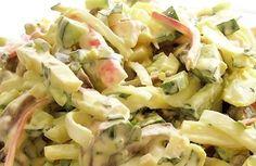 houbový salát s krabími tyčinkami