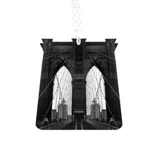Brooklyn Bridge Necklace in Black and White  by TillyBloom on Etsy, $25.00