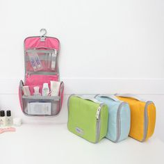 Travel Toiletry Organizer Bag Cosmetic Makeup Pouch Wash Hanging Storage Case  #Jacc