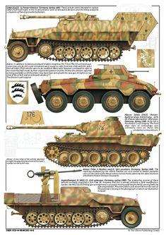 German 19th panzer division Half tracks