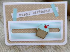 Kullerkarte / spinner card Cupcake
