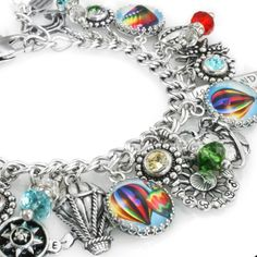 Hot Air Balloon Charm Bracelet