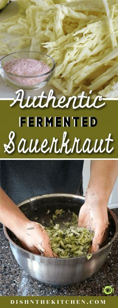 Learn how to make your own delicious and nutritious authentic homemade sauerkrau. Fermented Sauerkraut, Homemade Sauerkraut, Fermented Cabbage, Sauerkraut Recipes, Fermented Foods, Vegetable Side Dishes, Vegetable Recipes, Vegetarian Recipes, Healthy Recipes