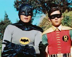The original Batman, Adam West and Burt Ward